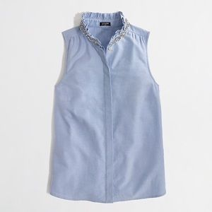 J. Crew jewel collar blouse